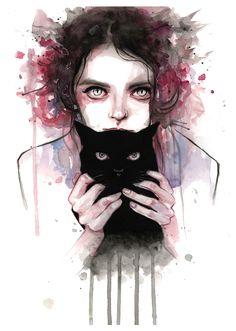 Catwoman, Giclée print (from a painting) by Tomasz Mrozkiewicz | Artfinder