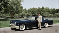 William Clay Ford with his 1956 Lincoln Continental Mark II