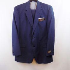*New* Jos. A Bank Dark Blue Pinstripe Suit 46 Long (Untailored) $85
