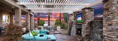 Enjoy the perfect outdoor living space with the Wyndham home design in Las Vegas, NV