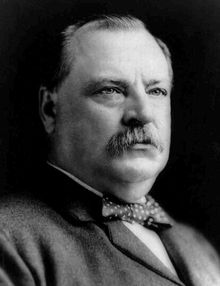 Stephen Grover Cleveland (1837–1908) was the 22nd and 24th President of the United States. Cleveland is the only president to serve two non-consecutive terms (1885–1889 and 1893–1897) and therefore is the only individual to be counted twice in the numbering of the presidents. He was the winner of the popular vote for president three times—in 1884, 1888, and 1892—and was the only Democrat elected to the presidency in the era of Republican political domination that lasted from 1861 to 1913.
