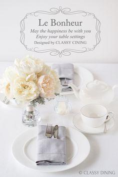 Le Bonheur - Floral line Table settings(ル・ボヌール フローラルライン)ウェディングの テーブルコーディネートにも♡