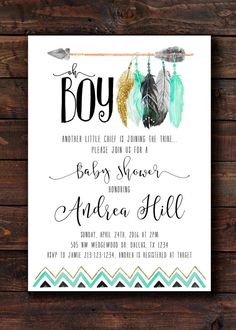 Lumberjack Plaid Woodsy Outdoor Baby Shower Invitation  You Are