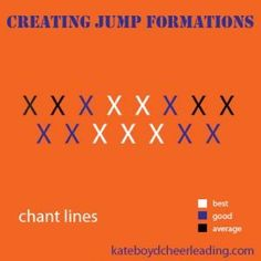 Where to put your different levels of jumpers in a chant formation - kateboydcheerleading.com
