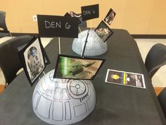 Star Wars themed centerpiece for Cub Scout Blue and Gold Celebration