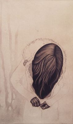 """Carrie Lingscheit. """"momento no. 25 (clasp)""""     2010     Intaglio (etching and mezzotint)     15x9"""""""