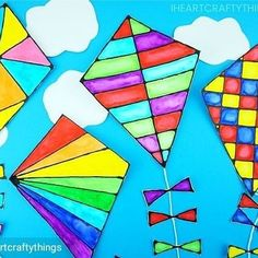 watercolor kites
