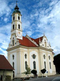 Una Iglesia En Steinhausen, Alemania