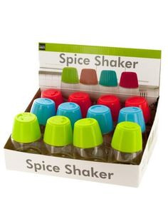 Colorful Spice Shaker Countertop Display (Available in a pack of 12)