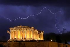 Acropolis in a thunderstorm