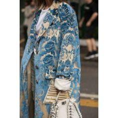 Floral Pattern Printed Long Sleeve Coat - ootdmw.com Daily Fashion, Spring Fashion, Autumn Fashion, Fashion Tips, Women's Fashion, Bohemian Fashion, Street Fashion, Long Overcoat, Langer Mantel