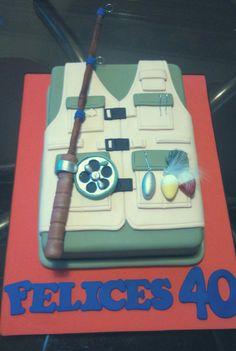 Pescador cake Fish Cake Birthday, Birthday Cakes For Men, Dad Birthday, Fishing Theme Cake, Gone Fishing Cake, Take The Cake, Love Cake, Fondant Cakes, Cupcake Cakes