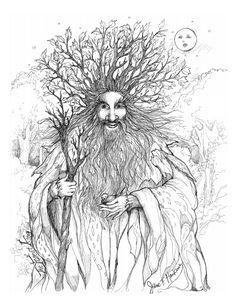 Лесной царь картинки как нарисовать