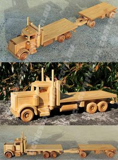wooden toy and model truck plans Woodworking Toys, Woodworking Projects, Transfer Images To Wood, Wooden Toy Trucks, Wood Toys Plans, Small Wood Projects, Wooden Shapes, Wooden Animals, Wooden Diy