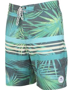 Surfline's 2015 Boardshort Buyer's Guide | BILLABONG: SPINNER PALMDALE LO TIDES | Jungle psychedelics come to mind with tropical air and empty perfection just a short paddle away. Equal strengths in situations that require relaxing or ripping.