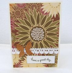 Any Occasion Card  Earth Tones  Have a Great by PrettyByrdDesigns