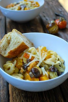 Butternut Squash, Sage, and Mushroom Tortellini with Fontina Cheese