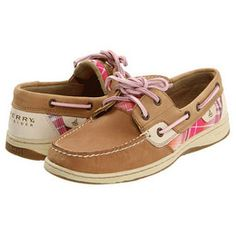 Sperry Womens Boat: Womens Bluefish 2-Eye Boat Shoe. Linen / Pink Madras