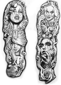 - My best tattoo list Chicano Tattoos Sleeve, Chicano Style Tattoo, Forearm Sleeve Tattoos, Best Sleeve Tattoos, Tattoo Sleeve Designs, Tattoo Designs Men, Body Art Tattoos, Chicanas Tattoo, Skull Girl Tattoo