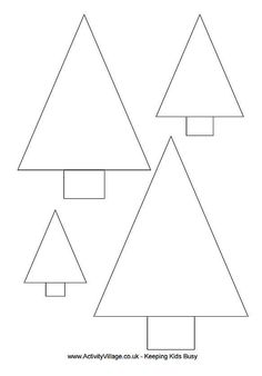 Christmas Tree Templates In All Shapes and Sizes: Activity Village's Printable Christmas Tree Templates Free Christmas tree templates you can print out and decorate for craft projects. These Christmas tree templates come in different sizes and shapes. Christmas Tree Design, Christmas Tree Template, Christmas Tree Quilt, Felt Christmas Decorations, Christmas Applique, Christmas Tree Pattern, Felt Christmas Ornaments, Christmas Sewing, Simple Christmas
