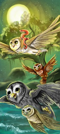 Legend Of The Guardians: The Owls of Ga'Hoole art. :) take to the skies