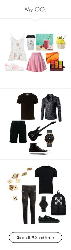 """""""My OCs"""" by kbelle28 ❤ liked on Polyvore featuring adidas Originals, weirdosfreaksandstrangers, American Vintage, Golden Goose, Converse, The Horse, men's fashion, menswear, Off-White and Dolce&Gabbana"""