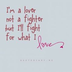 Will you fight for what you love?