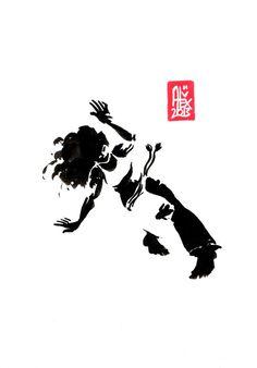Encres : Capoeira – 452 [ #capoeira #watercolor #illustration]