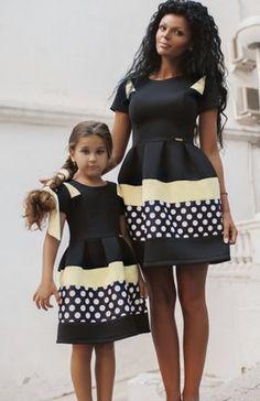 Juego de vestidos trajes de la familia madre e hija