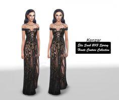 E.S. Spring collection dress at Kenzar Sims via Sims 4 Updates