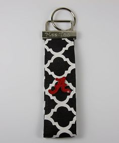 Take a look at this Black Quatrefoil Alabama Key Chain/Wristband by Mee Too on #zulily today!