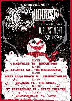Chiodos is touring December 2013!