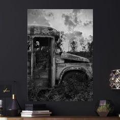 Metal Poster Rust Bus