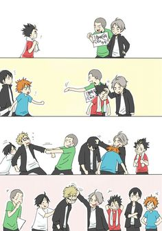 Find images and videos about anime, manga and haikyuu on We Heart It - the app to get lost in what you love. Manga Anime, Manga Haikyuu, Haikyuu Karasuno, Haikyuu Funny, Haikyuu Fanart, Kageyama, Kenma, Haikyuu Volleyball, Volleyball Anime