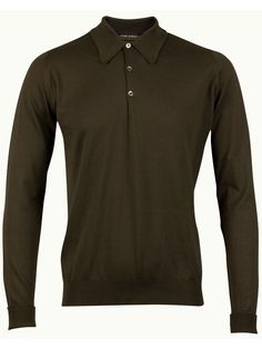 John Smedley Finchley Long Sleeve Polo Shirt - Brown - Available to buy at http://www.afarleycountryattire.co.uk/product-tag/john-smedley-finchley-long-sleeve-polo-shirt/ #johnsmedley #mensfashion #poloshirt #afarleycountryattire