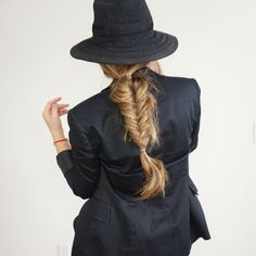 Fishtail braid created with tressmerize hair extensions for thin short hair.