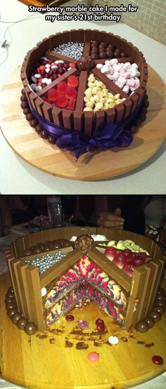 Birthday Marble Cake // funny pictures - funny photos - funny images - funny pics - funny quotes - #lol #humor #funnypictures