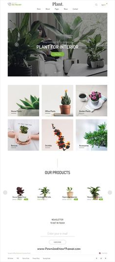 Plant is clean and modern design 10in1 responsive #Shopify theme for beautiful #gardening and #houseplants shop eCommerce #website to download & live preview click on image or Visit