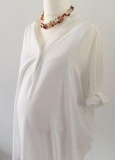 Kaufe meinen Artikel bei #Mamikreisel http://www.mamikreisel.de/fur-die-mami/shirts-tops-und-blusen/29987358-luftige-weisse-umstandsbluse