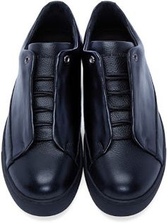 Black On The Fly: #IsseyMiyake Fly Front #Sneakers | #SHOEOGRAPHY