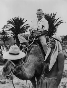 William Wyler and Charlton Heston on the set of Ben-Hur, 1959