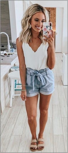 Sweet dresses, tops, shoes, jewelry & clothing for women, # for Over 100 cute and trendy outfit ideas for summer # for ideas 25 Impressive summer outfits Ideas to copy as soon as possible summer outfits summer fashion spring outfits 58 Casual … Casual Outfits For Teens, Cute Summer Outfits, Spring Outfits, Trendy Outfits, Casual Beach Outfit, Summer Cruise Outfits, Summer Clothes, Mode Outfits, Fashion Outfits