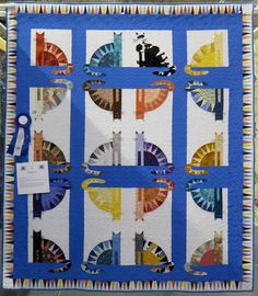 Sawtooth Cats quilt by Karen Yee.  2015 quilt show.  Northern Shenandoah Valley quilt guild.