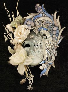 this handmade Venetian mask depicting winter is part of our four seasons mask collection. Venetian Carnival Masks, Carnival Of Venice, Venetian Masquerade, Masquerade Wedding, Masquerade Ball, Masquarade Mask, Venice Mask, Music Artwork, Beautiful Mask