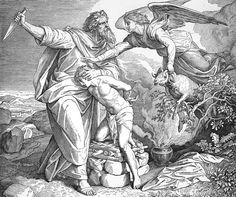 Bilder der Bibel - Abraham will Isaak opfern - Julius Schnorr von Carolsfeld