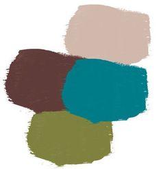 Bleu canard : Avec du chocolat, du kaki  (ou vert anis) et du taupe pour l'adoucir.