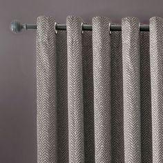Clarke & Clarke Verona smoke lined eyelet heading curtains Standard Window Sizes, Smoke Design, Plain Curtains, Dressings, Verona, Charcoal, Things To Come, Interior Design, House