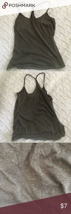 Army green UO tank Cool tank from urban outfitters in great condition! Slightly see-through. Urban Outfitters Tops Tank Tops