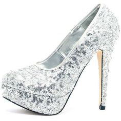 Dani Silver Sequin Stiletto ($6.71) ❤ liked on Polyvore featuring shoes, pumps, grey, high heel stilettos, high heel platform pumps, platform shoes, high heel pumps and platform stilettos