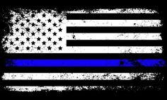 Distressed Cop Flag Decal | HeroTees